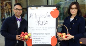 Starting a new tradition – Apples for UBC Profs