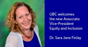 UBC Appoints new Associate Vice-President, Equity & Inclusion