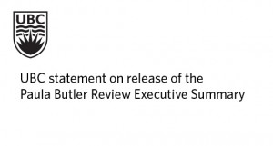 Statement re: Release of the Paula Butler Review Executive Summary