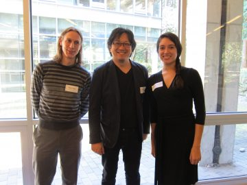 Morning presenters from left to right: Dan Clegg, Henry Yu, and Antonya Gonzalez