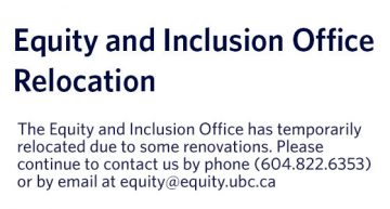 Equity & Inclusion Office Relocation