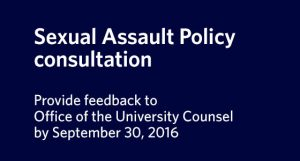 Sexual Assault Policy consultation