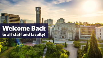 Welcome back to all staff and faculty!