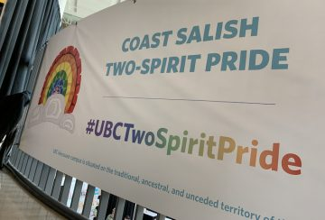 Coast Sailish Two-Spirit Pride Banner Unveiled